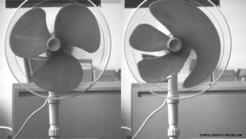 Rolling Shutter en un ventilador