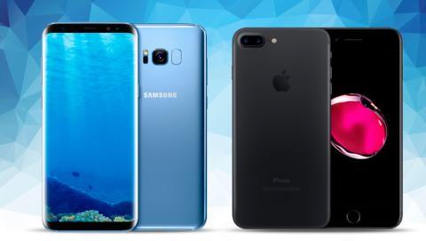 Samsung Galaxy S8 Plus, comparativa con el iPhone 7 Plus