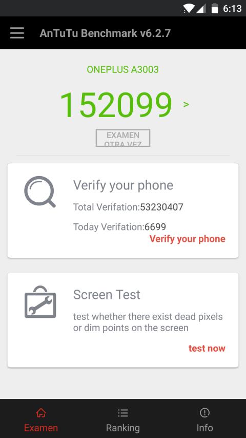 El OnePlus 3T Obtiene 152.099 puntos en la prueba de benchmark de AnTuTu