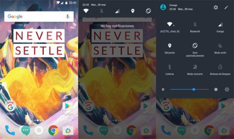 Interfaz del OnePlus 3T