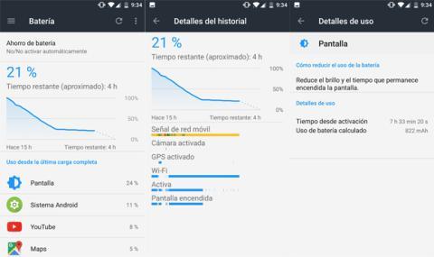 Autonomía del OnePlus 3T