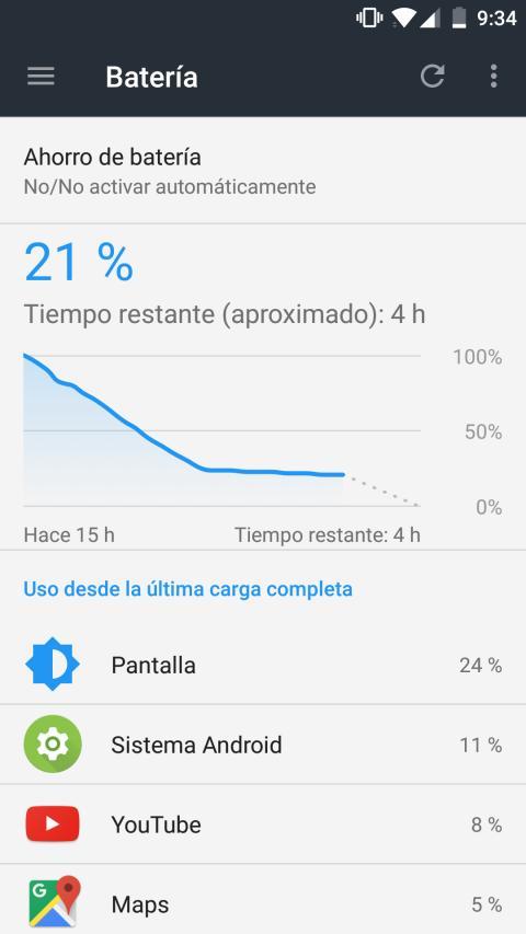 Batería del OnePlus 3T: consumo y autonomía