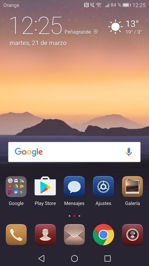 Interfaz del Huawei P10 Plus