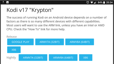 Install Kodi if your Android is not compatible with Google Play