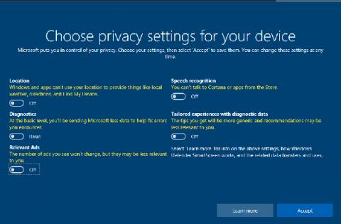 La privacidad ahora está en manos del usuario en Windows 10