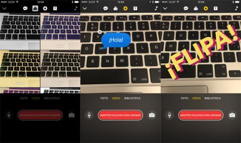 Así son los diferentes filtros de la aplicación de Clips