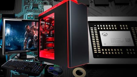 Comparativa de especificaciones y hardware entre Xbox Scorpio y un PC Gaming.