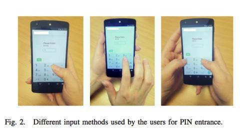 Robar el PIN de un móvil a través de gestos en el giroscopio