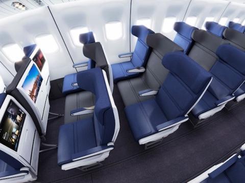 asiento central avion
