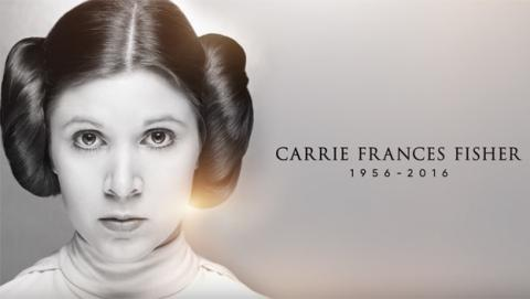 El homenaje a Carrie Fisher en Star Wars