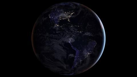 La NASA muestra imágenes de la Tierra de noche