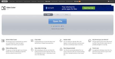 La página de Online Video Cutter