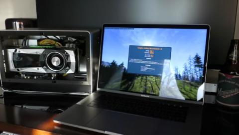 MacBook Pro 2016 con Touchbar, mucho más potente con una tarjeta gráfica Nvidia.