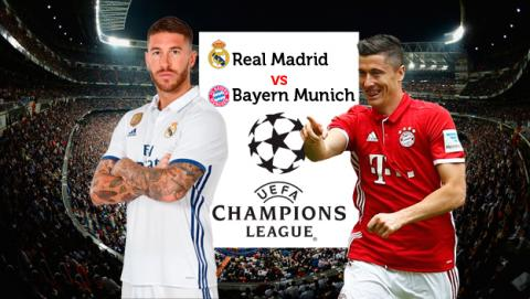Cómo ver online en directo el Real Madrid vs Bayern de Champions League por Internet