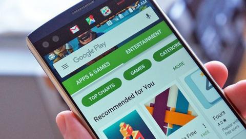 La última actualización de Google Play rediseña su interfaz.
