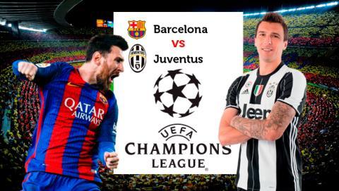 Cómo ver online en directo el Barcelona vs Juventus de la Champions League en streaming