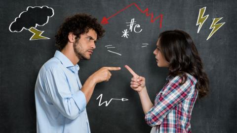 discusion pareja