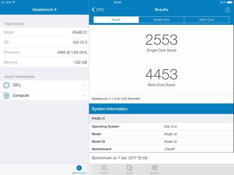Benchmark iPad 9.7 (2017)