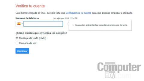 Verifica tu cuenta de Gmail
