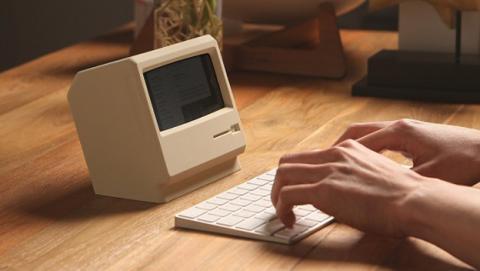 El soporte con estilo de Macintosh para el iPhone