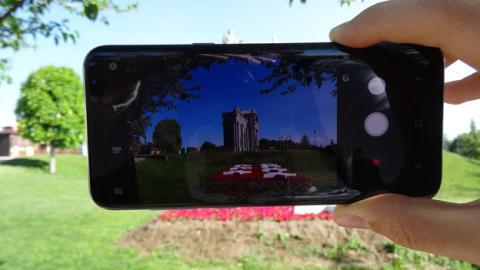 La aplicación de cámara del Samsung Galaxy S8+
