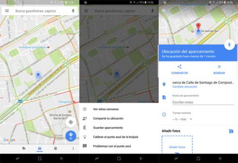 Guardar aparcamiento en Google Maps