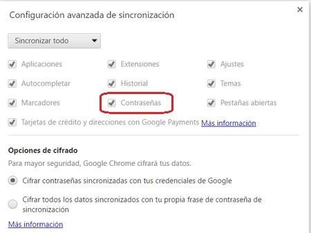 Cómo administrar las contraseñas que guardas en Google Chrome