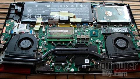 Sistema de refrigeración del Acer Aspire VX 15