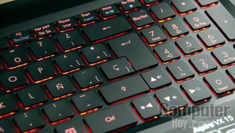Falta de espacio en el teclado del Acer Aspire VX 15