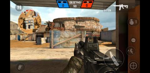 Ejemplo de un juego ejecutándose en el Samsung Galaxy S8+