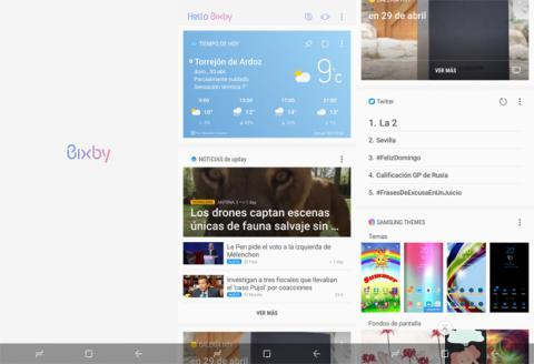 Así es el aspecto que luce Bixby en el Galaxy S8 Plus