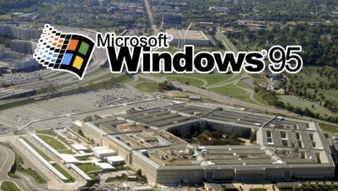 El Pentágono todavía funciona con Windows 95
