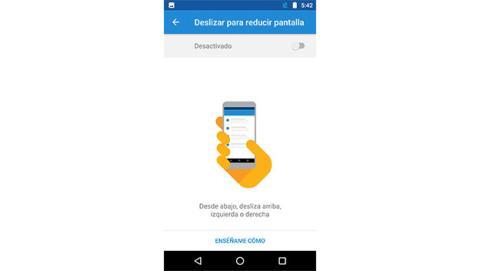Usar tu Motorola Moto G5 con una sola mano.