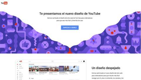 Prueba ya el nuevo diseño de YouTube