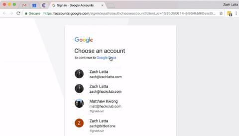 La página falsa de inicio de sesión de Gmail
