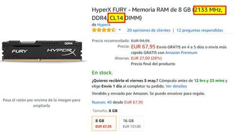 Elegir la memoria RAM con mejor equilibrio entre frecuencia y latencia