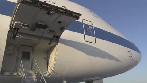 El avión del juicio final que salvaría a Donald Trump en caso de ataque nuclear