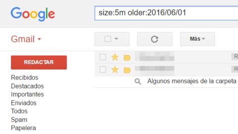 Encontrar los correos con los archivos adjuntos más pesados