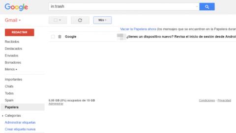 Recuperar espacio en tu correo de Gmail
