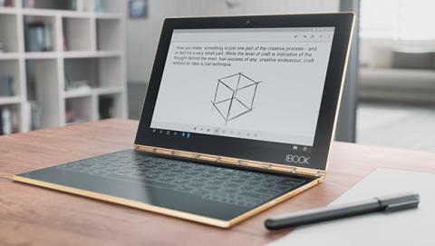 Lenovo Yoga Book es un portátil convertible 3 en 1