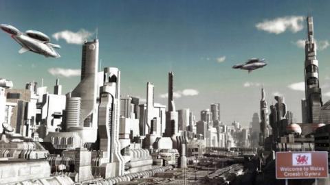 Táxis voladores y túneles futuristas lejos de la realidad