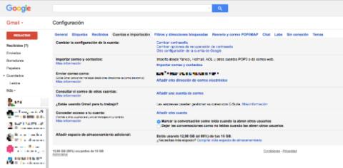 Importar correos de Gmail.
