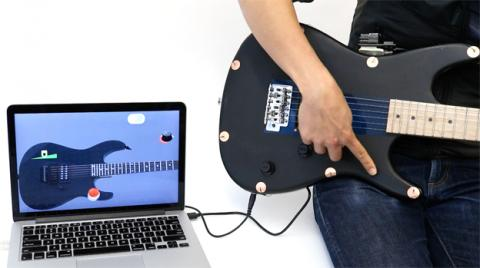 Ejemplo de la utilidad práctica de Electrick en una guitarra