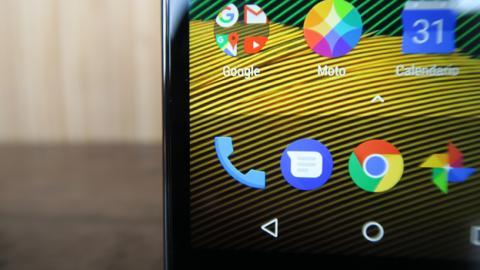 Detalle de la pantalla del Moto G5