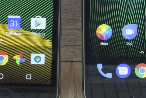 La pantalla del Moto G5 frente a la del G5 Plus