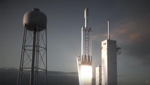 La prueba de despegue del Falcon Heavy