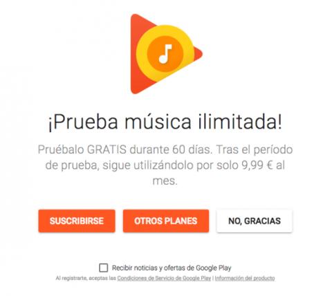 Google Play Música gratis