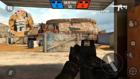 El juego Bullet Force en el Moto G5