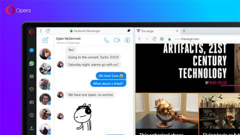 WhatsApp en el navegador Opera