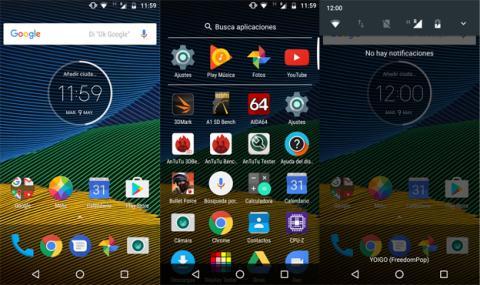 La interfaz del Moto G5